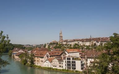 Bern, historische Altstadt, Kirche, Münster, Sommer, Schweiz