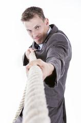 Businessman competition concept