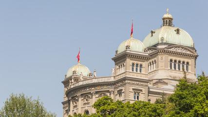 Bern, Altstadt, historisches Bundeshaus, Sommer, Schweiz