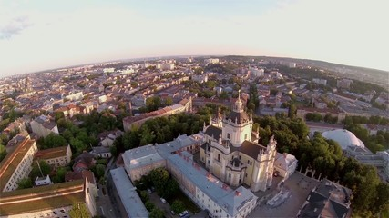 Lviv St Yura Church Aerial view