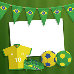 brazil soccer decoration