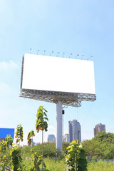 Blank billboard . Useful for your advertisement