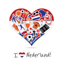 Netherlands fan flag love
