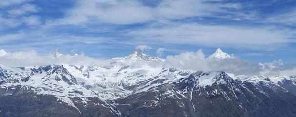 Winter view of Swiss Alps