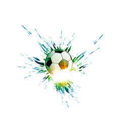 Vector Soccer Ball, easy all editable