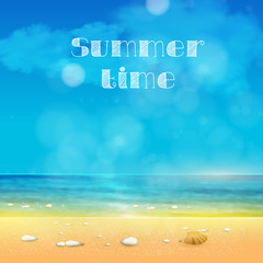 Summer Time, summer background with place for your text easy all