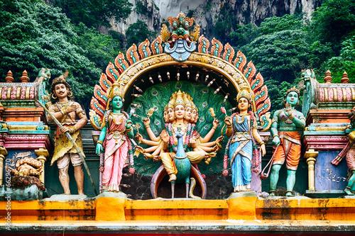 Foto op Canvas Bedehuis Hindu temple, Kuala Lumpur - Malaysia