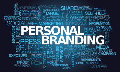 Personal branding word tag cloud