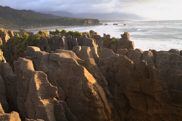 Amazing shapes of Pancake rocks