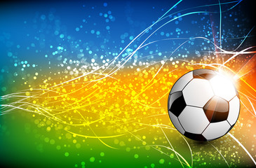 Football background with soccer ball,  easy all editable