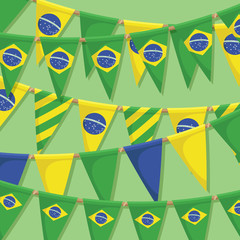 brazil bunting decoration