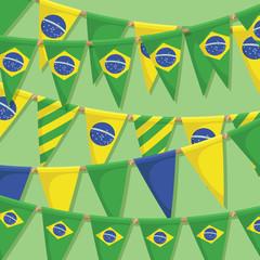 brazil bunting decoration
