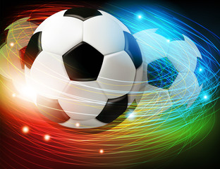 Soccer ball with lights and sparks