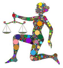 bilancia, segno zodiacale composto da colori