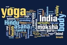 Yoga - woordwolk illustratie
