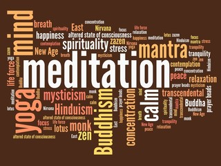 Meditation - word cloud illustration