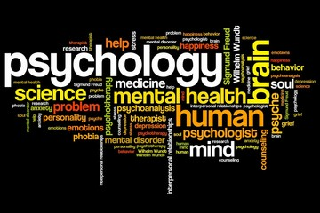 Psychology - word cloud illustration