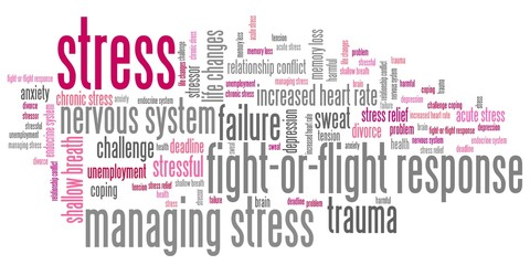 Stress - word cloud illustration