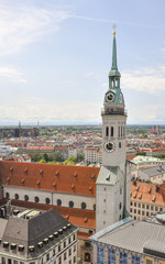 München, Altstadt, Sankt Peter, Kirche, Sommer, Deutschland