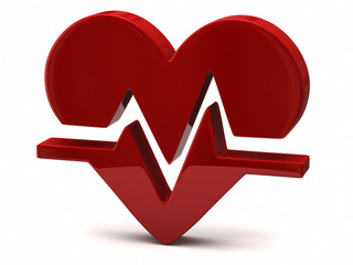 Red heart rate icon