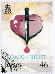JERSEY - 2014: shows illustration from Romeo and Juliet