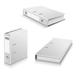 White ring binders set