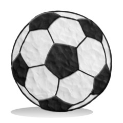 plasticine football isolated on white background