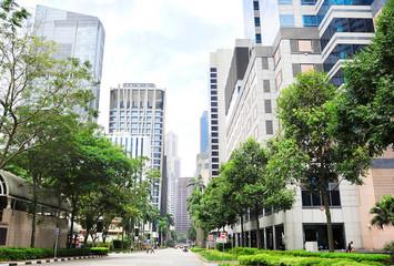 Singapore downtown street