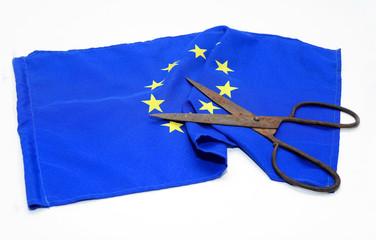 scissors euro flag