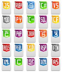 Programming language icons