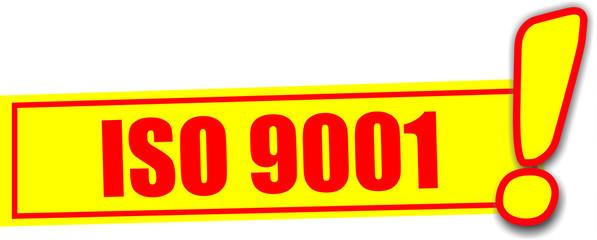 étiquette iso 9001