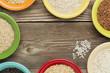 variety of rice grain abstract