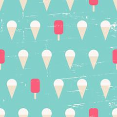 Seamless Ice Cream Background