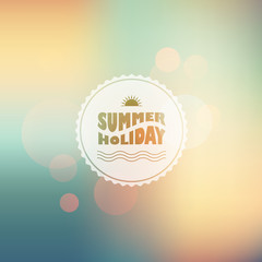 Vector sunny shine  background with summer text
