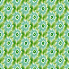 Pale Blue Green and White Flower tiled