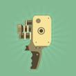 Retro film (video) camera with handle