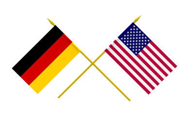 Flags, USA and Germany