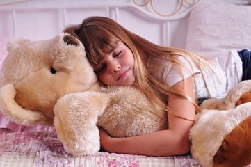 Portrait of sleeping girl