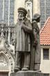 Leinwanddruck Bild Lambertibrunnen Münster Westfalen