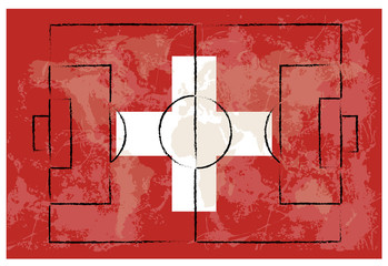 football court on switzerland flag background