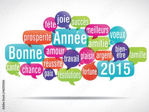 nuage de mots bulles : bonne année 2015 (cs5)