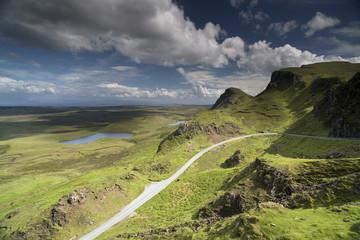 beautiful quiraing range of mountains in isle of skye, scotland
