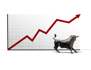 stock market going up, prosperity, bull market