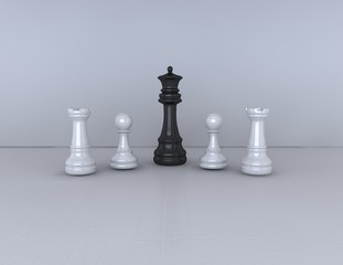 simple chess game background, black and white