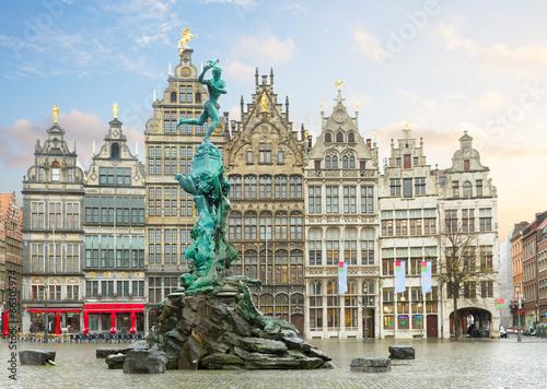 Tuinposter Antwerpen Grote Markt square, Antwerpen