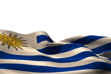 Digitally generated uruguay flag rippling