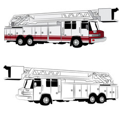 Hook and Ladder Fire Truck