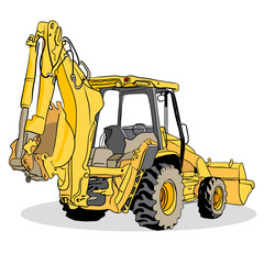 Backhoe Loader Vehicle