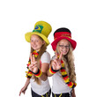 Zwei Deutsche Fußball Fans in Brazilien