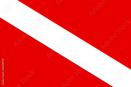 Diver down flag - 66309538